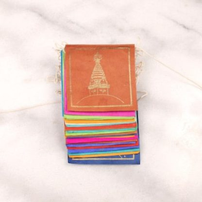 Bandera tibetana papel lokta extra larga simbolos auspiciosos 1 Humos.cl — Humos.cl