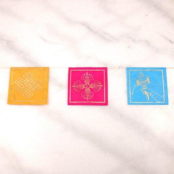 Bandera tibetana papel lokta extra larga simbolos auspiciosos 2 Humos.cl — Humos.cl