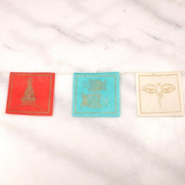 Bandera tibetana papel lokta extra larga simbolos auspiciosos 5 Humos.cl — Humos.cl