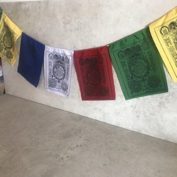 Bandera tibetana la rueda jyoti auspiciosa Humos.cl — Humos.cl