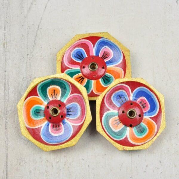 Porta Incienso Tibetano - Flor • Humos.cl