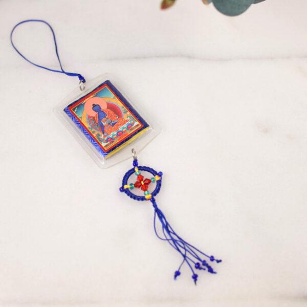 Amuleto Buda Medicinal y Rueda Darma • Humos.cl