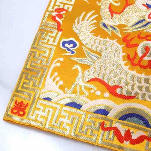 Tapete de Seda para tu Altar Dragon Dorado • Humos.cl