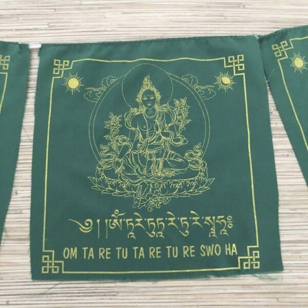 Bandera Tibetana a Tara Verde Full • Humos.cl