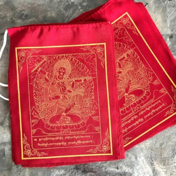 Bandera tibetana tara roja Humos.cl 1 — Humos.cl