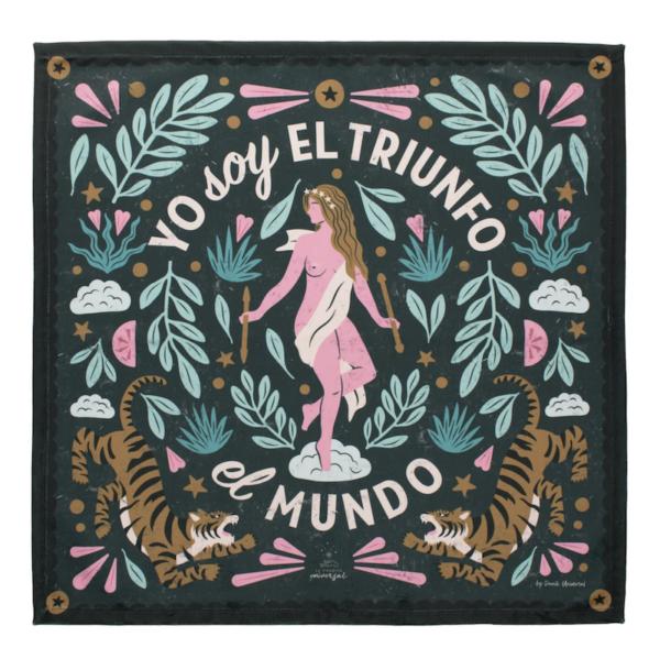 Tapete para Tarot El Mundo • Humos.cl