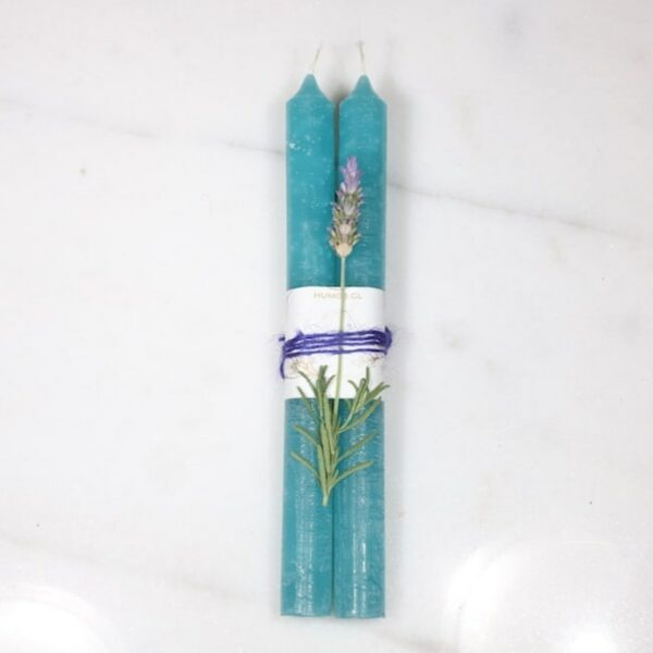 Velas azul y lavanda 2 Humos.cl — Humos.cl